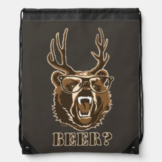 Bear, Deer or Beer Drawstring Bag