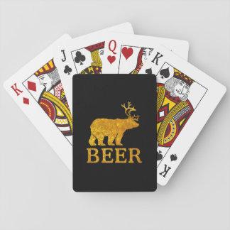 Bear Deer or Beer on Beer Playing Cards