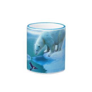 Bear Design for Animal and Wildlife-Supporters Ringer Mug