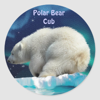 Bear Design for Animal and Wildlife-Supporters Round Sticker