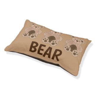 BEAR Dog Brown Tan Teddy Plush Animal Toy Print Pet Bed