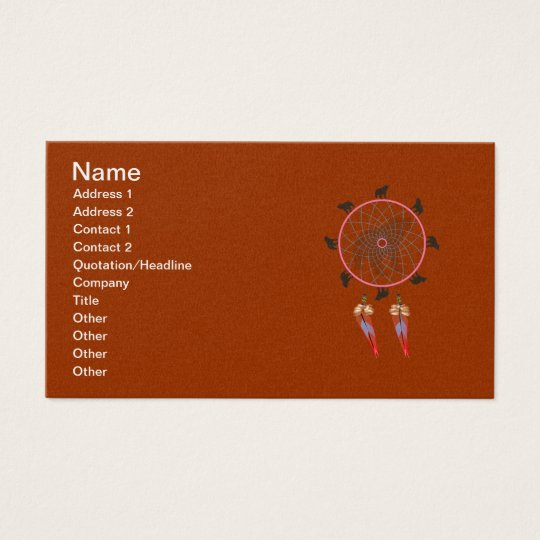 Bear Dream Catcher Business Card