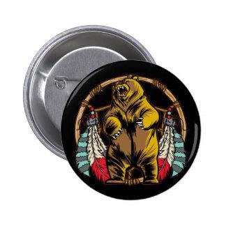 Bear Dreamcatcher 6 Cm Round Badge