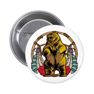 Bear Dreamcatcher 6 Cm Round Badge