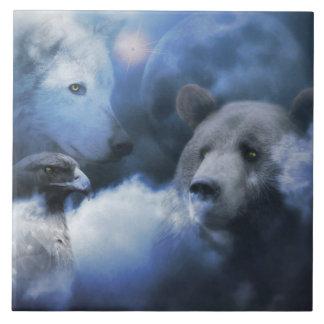 Bear, Eagle and Wolf Art Tile