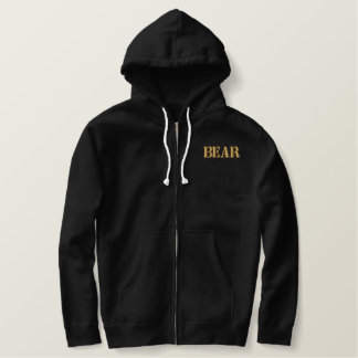BEAR EMBROIDERED HOODIE