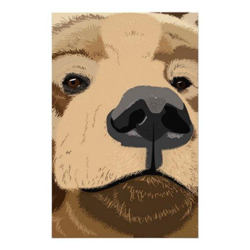 Bear face stationery