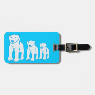 Bear Family Luggage Tag