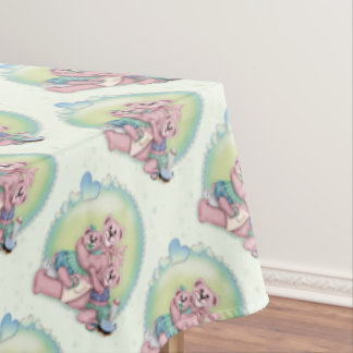 "BEAR FAMILY Tablecloth  60""x104"""