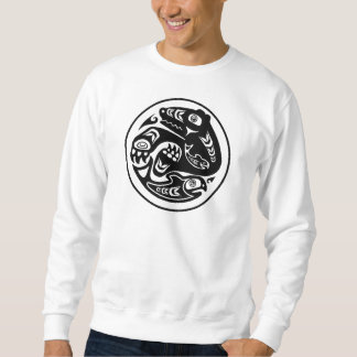 Bear & Fish Native American Design Sweatshirt