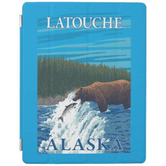 Bear Fishing in River - Latouche, Alaska iPad Cover