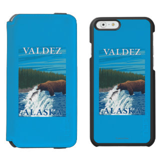 Bear Fishing in River - Valdez, Alaska Incipio Watson™ iPhone 6 Wallet Case