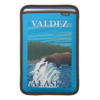 Bear Fishing in River - Valdez, Alaska MacBook Sleeves
