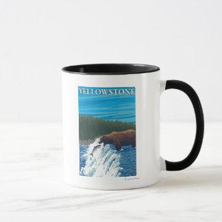 Bear Fishing in River - Yellowstone National Mug