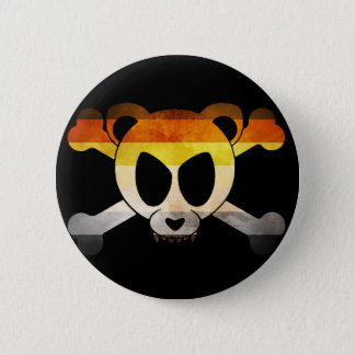 Bear flag Skull (Gay Badge) 6 Cm Round Badge