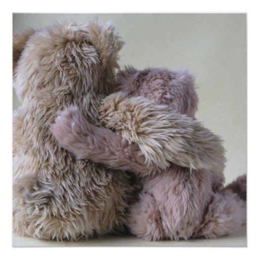 bear friends invitation square