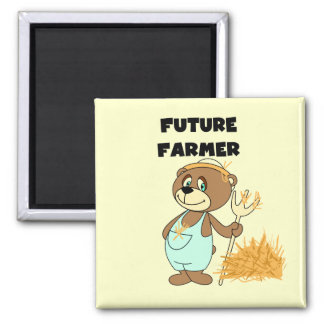 Bear Future Farmer Tshirts and Gifts Square Magnet