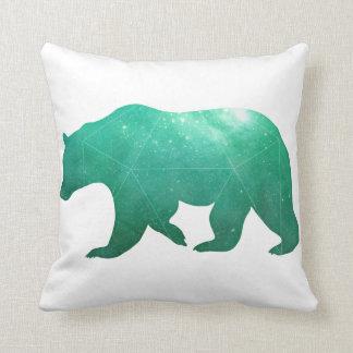 Bear Galaxy Watercolor Throw Pillow