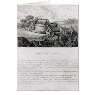 Bear Garden, 1647 Greeting Card