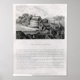 Bear Garden, 1647 Poster