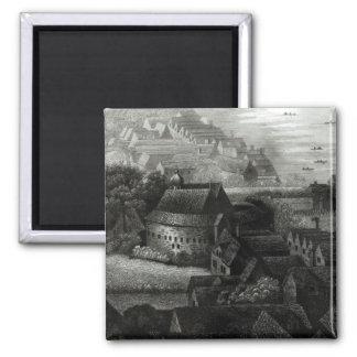 Bear Garden, 1647 Square Magnet