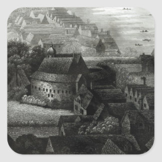 Bear Garden, 1647 Square Sticker