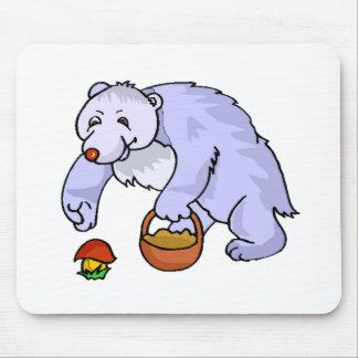 Bear Gathering Mushroom Mousepads