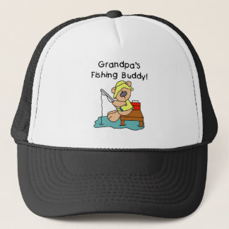Bear Grandpas Fishing Buddy Trucker Hat