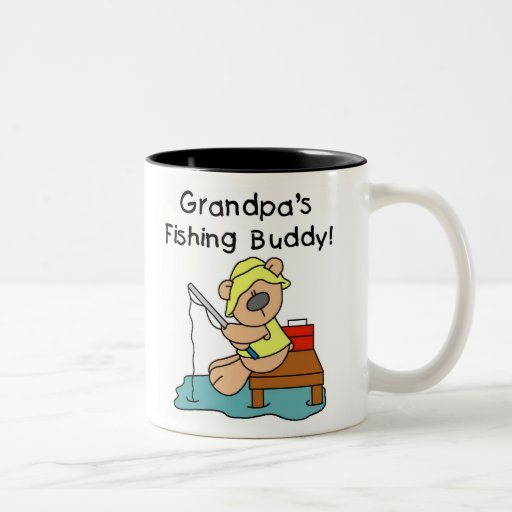 Bear Grandpas Fishing Buddy Two-Tone Mug
