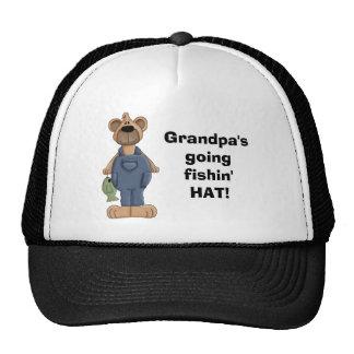 bear, Grandpa'sgoingfishin'HAT! Cap
