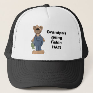 bear, Grandpa'sgoingfishin'HAT! Trucker Hat