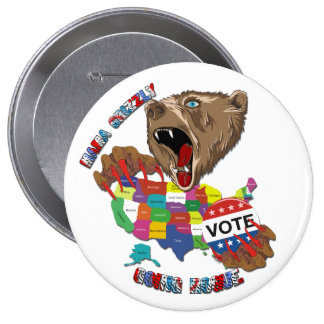 Bear-Graphic-3 Pinback Buttons