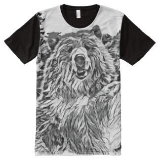 Bear Graphic Tee by Aletaq All-Over Print T-Shirt