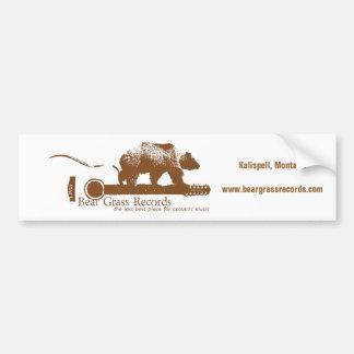 Bear Grass Records Bumper Sticker
