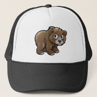 Bear Grizzly Animals Cartoon Character Trucker Hat