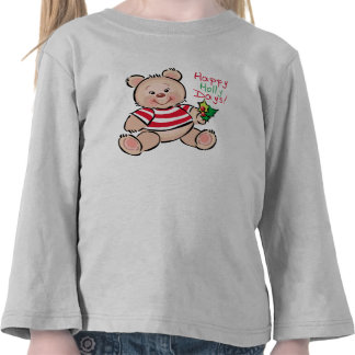 Bear Happy Holly Days Christmas Tee Shirts
