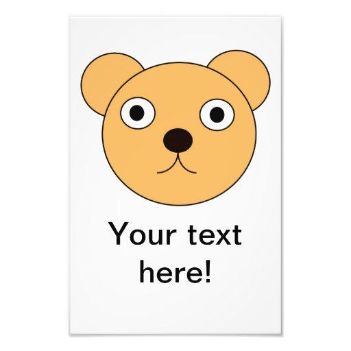 Bear head cartoon photo art