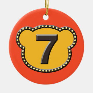 Bear Head Number 7 Christmas Ornaments