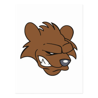 BEAR HEAD POSTCARD