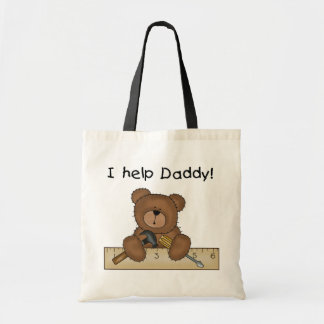 Bear Helps Daddy Budget Tote Bag