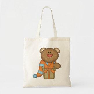 Bear & Holiday Present - Boys or Girls Gift Bag