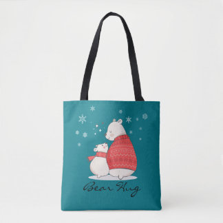 Bear Hug 2 - Bears, Hearts, and Snowflakes - TOTE