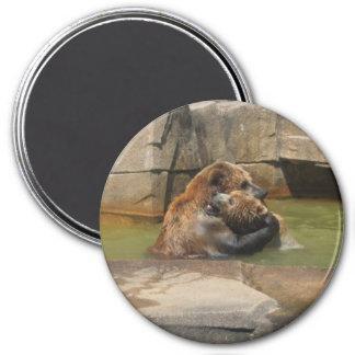 Bear Hug 7.5 Cm Round Magnet