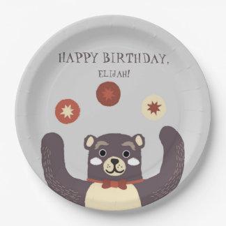 Bear Hug Boy's Birthday Party Paper Plate