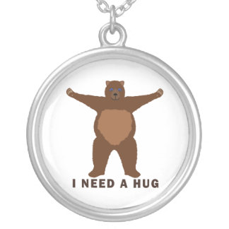 Bear Hug request Silver Plated Necklace