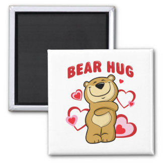 Bear Hug Square Magnet