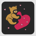 Bear Hug Square Sticker