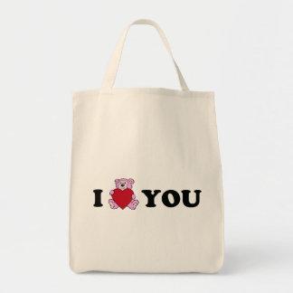 Bear Hug Grocery Tote Bag