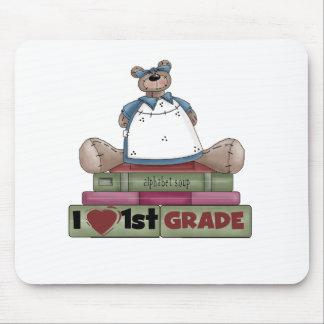 Bear I Love 1st Grade Mouse Pads