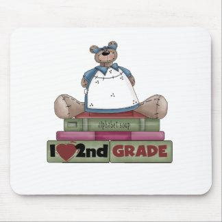Bear I Love 2nd Grade Mouse Mats